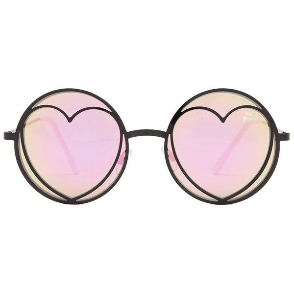 Betsey Johnson Women s Round With Heart Sunglasses ( 9.97) ❤ liked on  Polyvore featuring accessories · Óculos De Sol Em Formato De CoraçãoÓculos  ... 11c0b90ee9