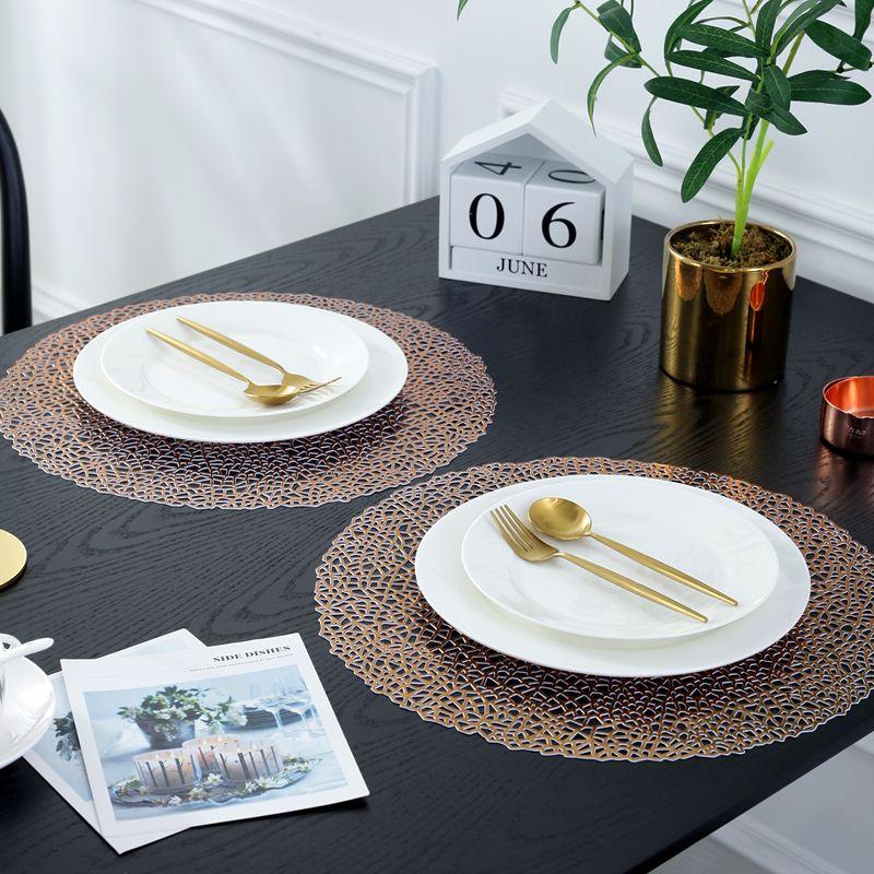 Copper Coloured Placemats Vinyl Copper Table Mats Manufacturer Sale Wantu Copper Table Colorful Table Placemats
