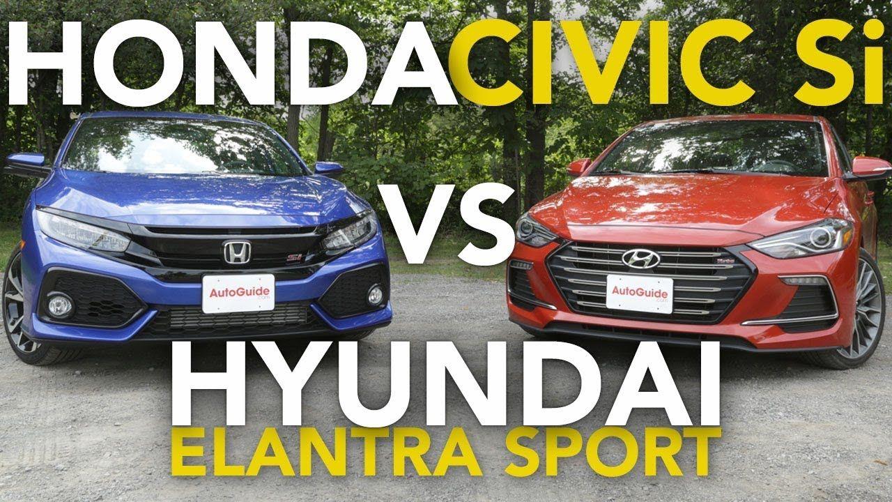 Autoguide 2018 Honda Civic Si vs Hyundai Elantra Sport