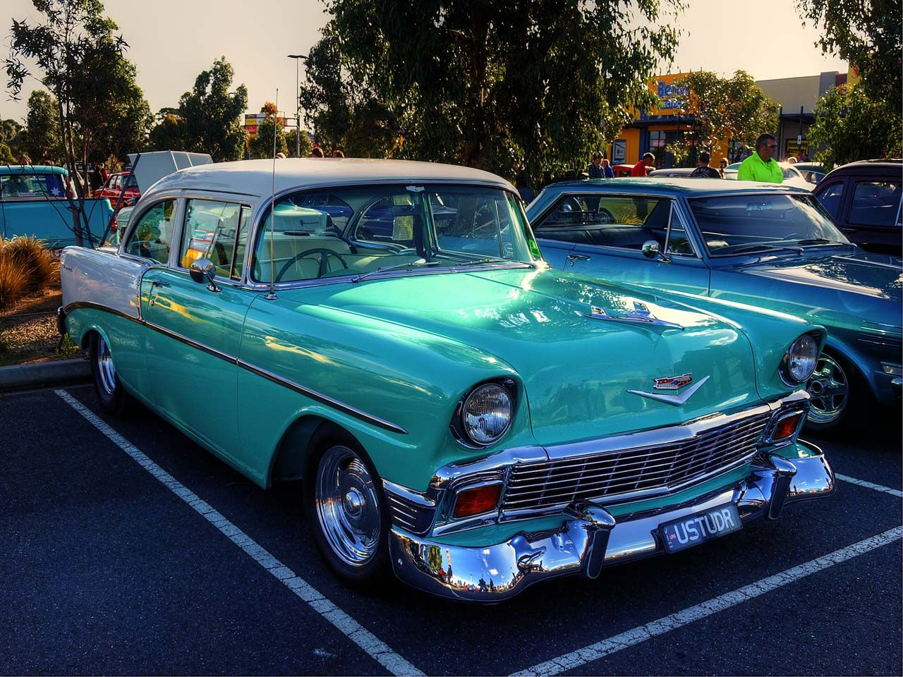 56 Chevy bel Air, my first car looked just like this, but mine had ...