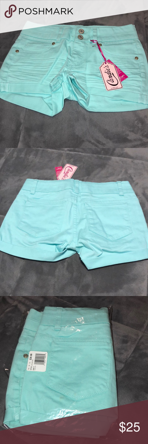Candies Light Blue Shorts Candies Light Blue Shorts Candie's Shorts #lightblueshorts