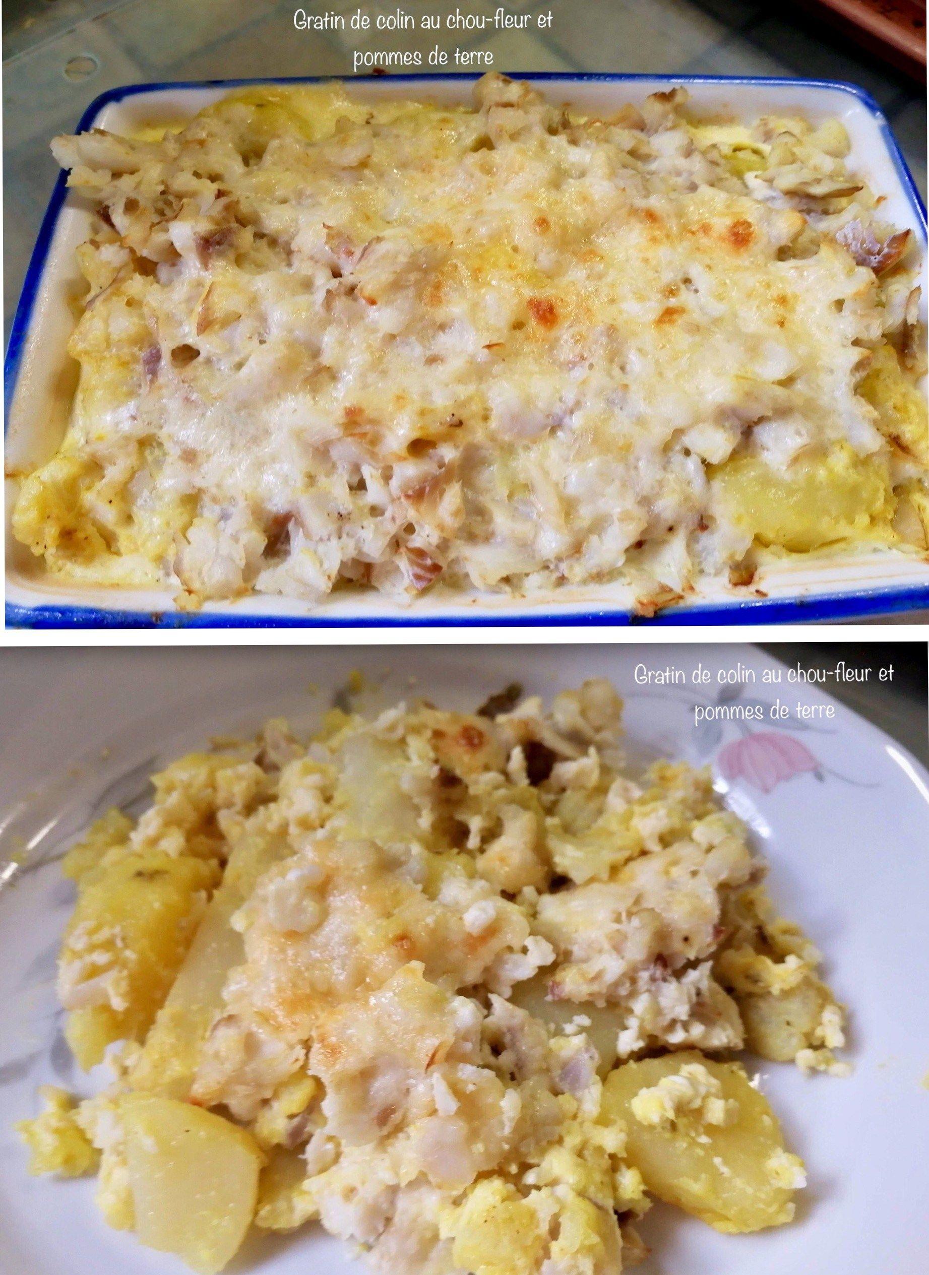 Gratin de colin chou-fleur et pommes de terre (avec images ...