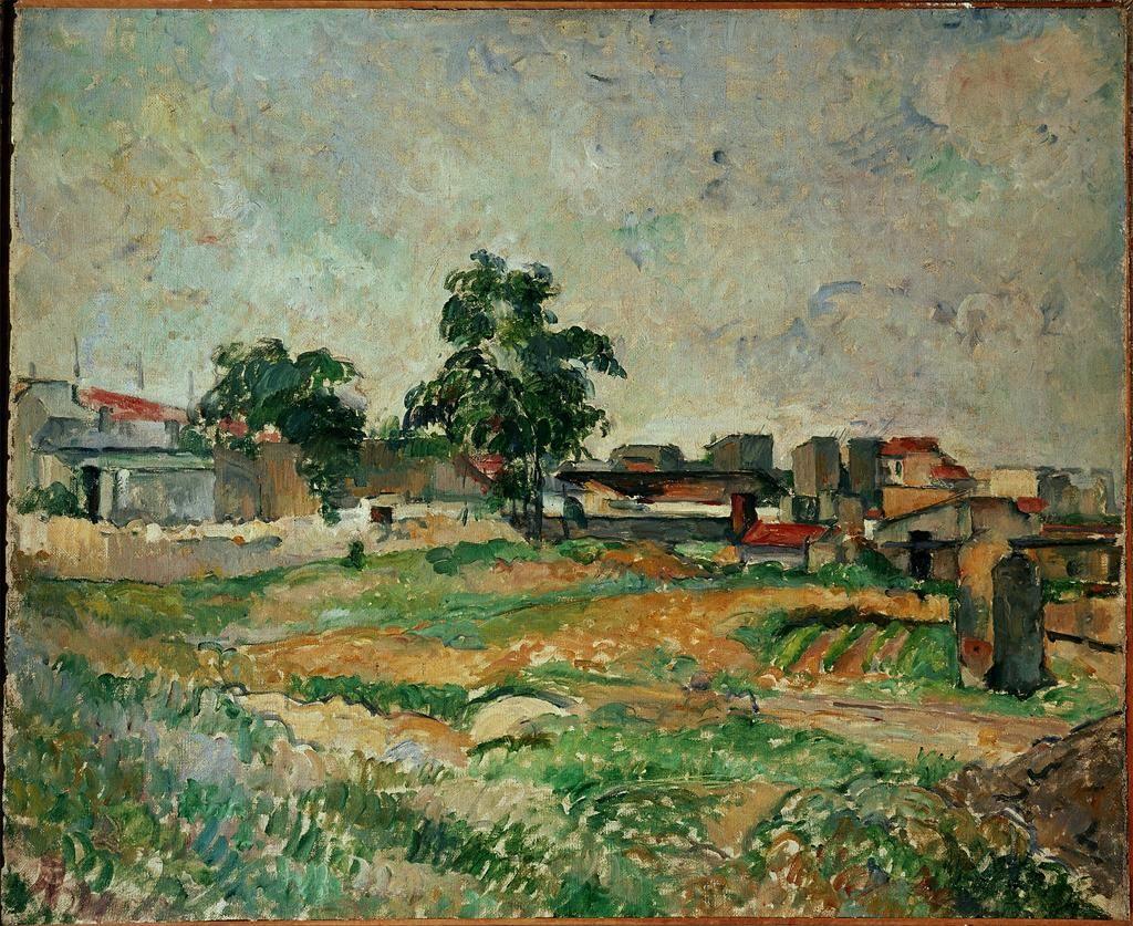 Landscape Near Paris c. 1876 Paul Cezanne