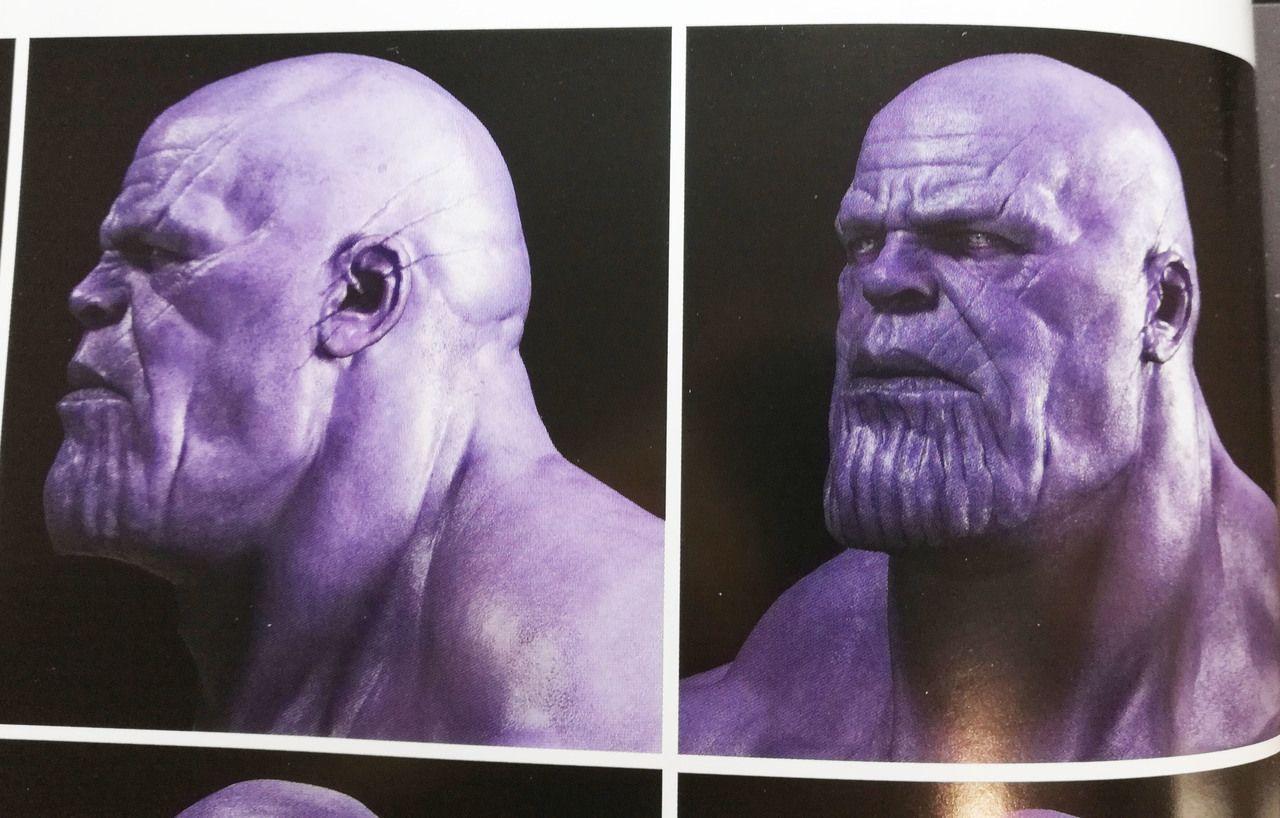 Thanos Head Zbrush 3d Model Turbosquid 1291641 Desenho De Poses Rosto Desenhos