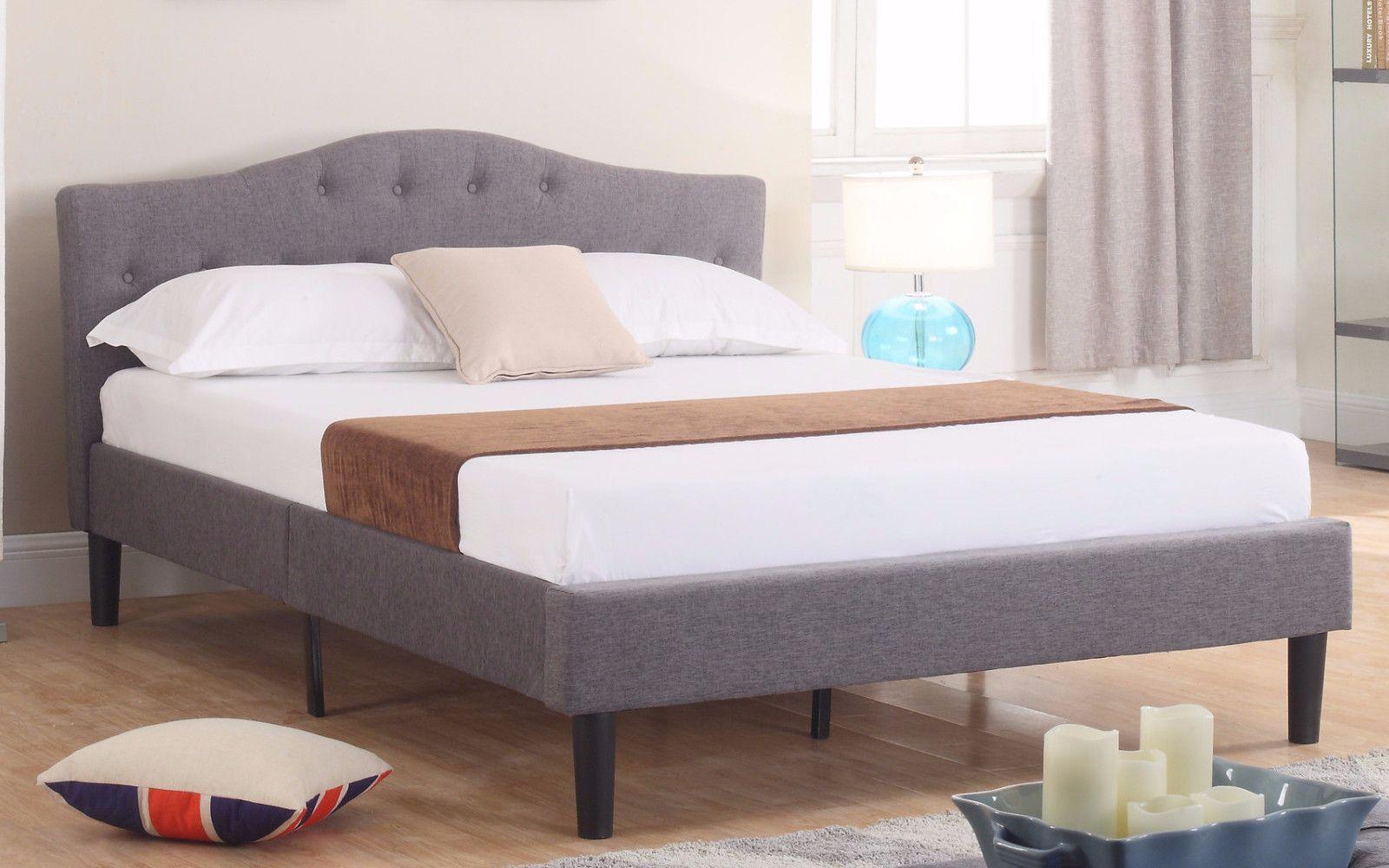 Josh Classic Tufted Fabric Bed