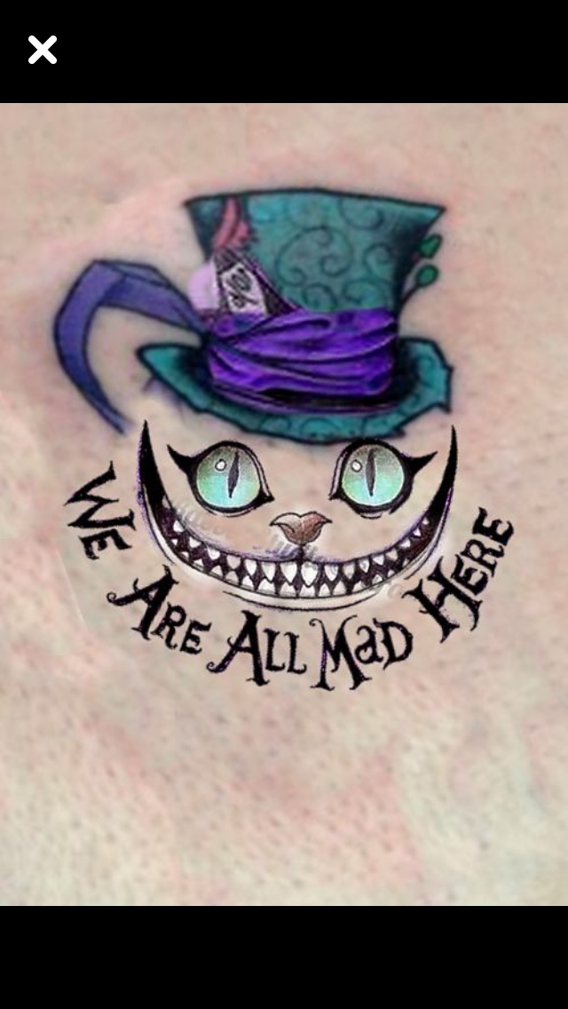 Pin By Jo Ann Aiken On Tattoos Alice In Wonderland Drawings Wonderland Tattoo Cheshire Cat Tattoo