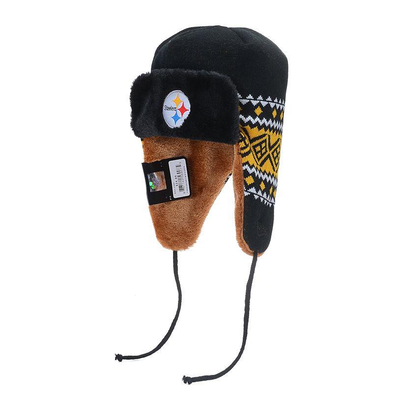 d832265fe Pittsburgh Steelers Trapper Knit Hat 01 New Era Beanie