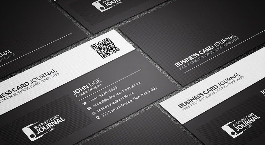 Free Black White QR Code Business Card Template More At Designresourcesio