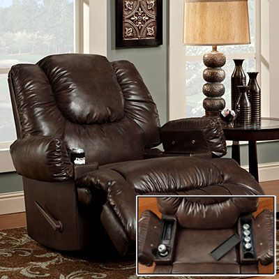Stratolounger  Tailgater Tulsa Rocker Recliner With Heat   Massage at Big  Lots  game. Stratolounger  Tailgater Tulsa Rocker Recliner With Heat   Massage
