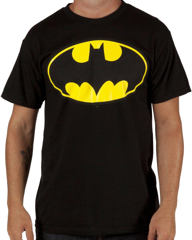 DC Comics Mens Batman T-Shirt Crew Neck Tee Top Short Sleeve Print