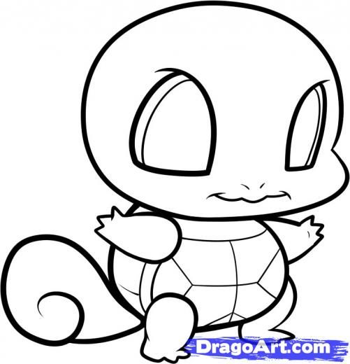 chibi squirtle coloring pages Google Search chibi pokemon