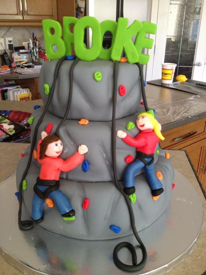 Cake Designs Rock Climbing : Rock climbing cake My cakes Pinterest Rock climbing ...