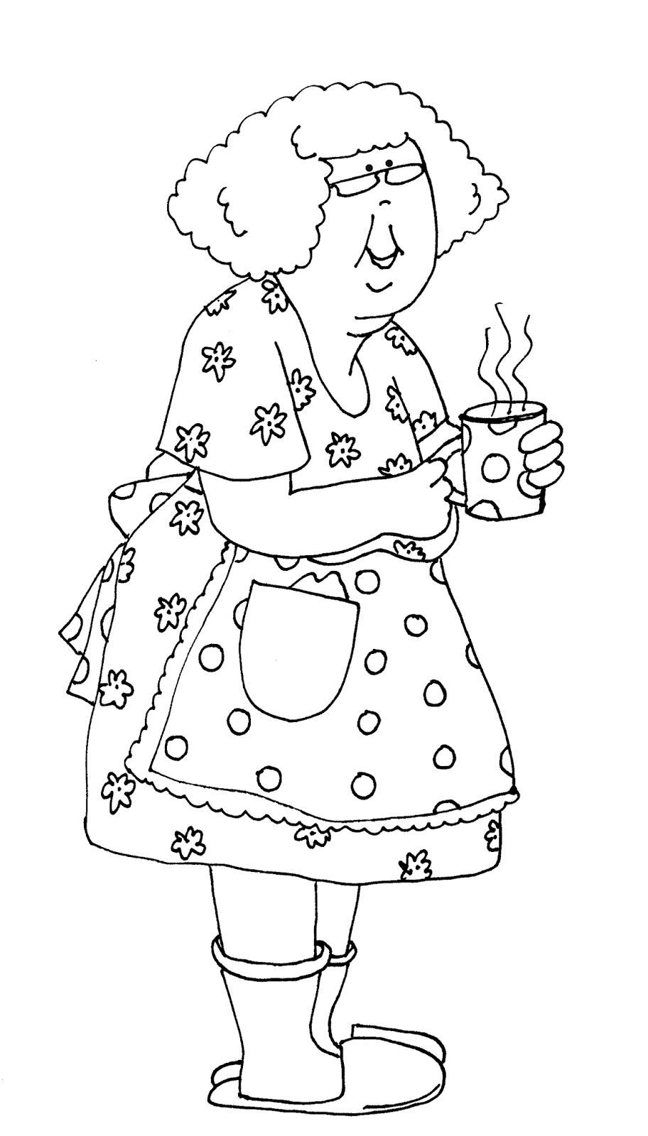 Выпуску, раскраска бабушке