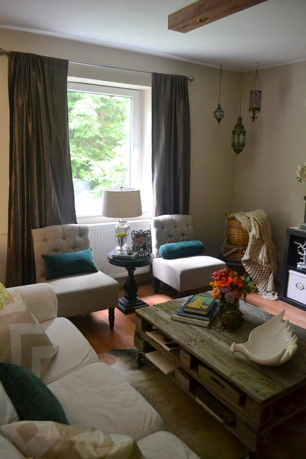 LAY OUT OF MY LIVING ROOM love these 2 slipper chairs with ...