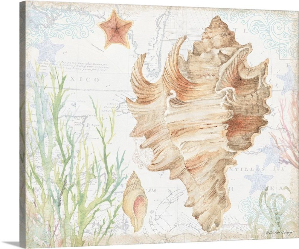 Conch Shell Abstract Canvas Painting Abstract Canvas Canvas Painting