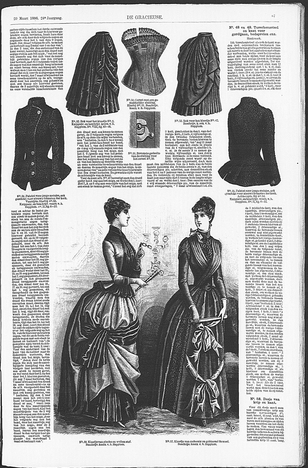 Gracieuse. Geïllustreerde Aglaja, 1886, aflevering 11, pagina 87