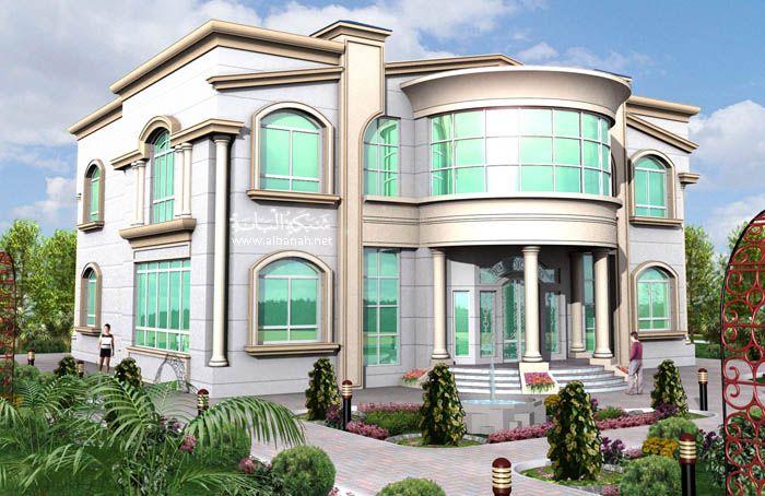 واجهات فلل وبنايات منوعه ومنازل فخمة منتديات عراق الخير والمحبة House Styles Plan Design House Plans