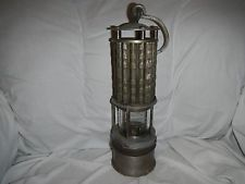 Antique Miner S Safety Lamp Lantern Wolf Safety Lamp Co Ny