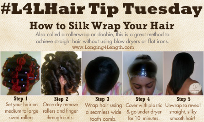 L4LHair Tip Tuesday: How To Silk Wrap Your Hair | L4L Roller & Rod ...