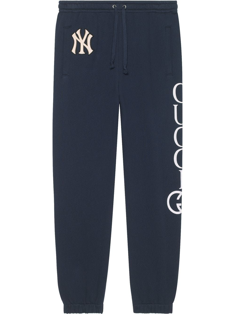b55afc32d Gucci Cotton jogging pant with NY Yankees™ patch - Blue | Products ...
