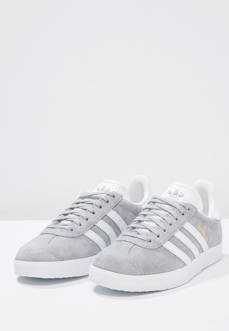 adidas Originals GAZELLE - Sneakers laag - mid grey/white/gold metallic - Zalando.be