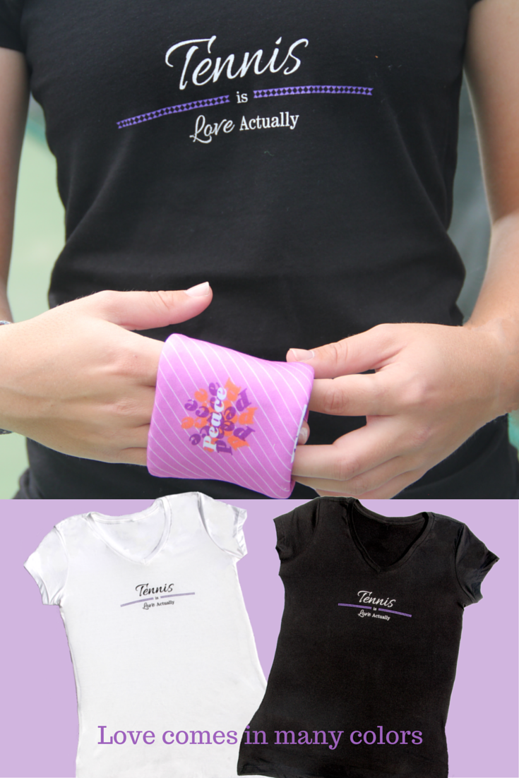 When did you first fall in love with Tennis? Tennis really is, Love Actually! Available in black and white (with varying color accents in logo) http://wristpectsport.com/collections/womens-v-neck/products/tennis-is-love-actually
