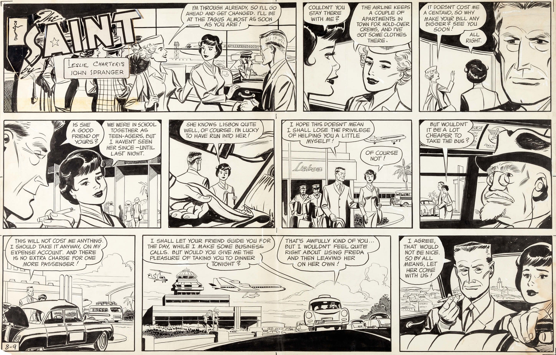 John Spranger The Saint Sunday Comic Strip Original Art dated | Lot #12136…
