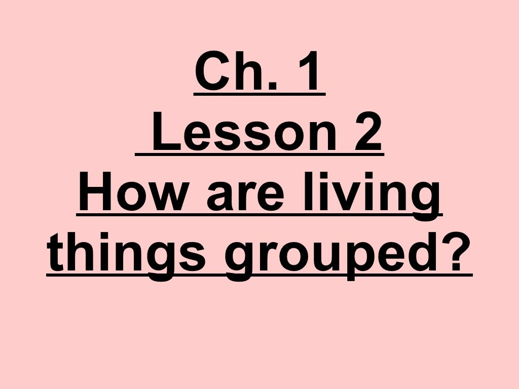 4th Grade Unit A Ch 1 Lesson 2 How Are Living Things Grouped By Ryan Hinsz Via Slidesh
