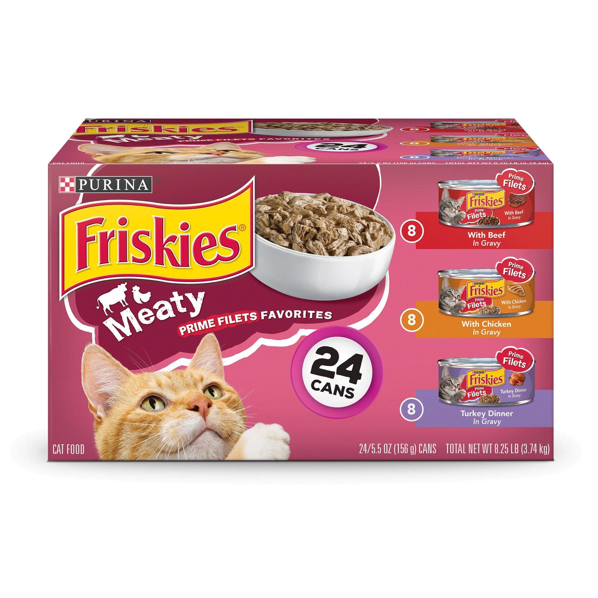 Friskies Prime Filets Meaty Favorites Variety Pack Wet Cat Food 24ct Cat Food Purina Friskies Dry Cat Food