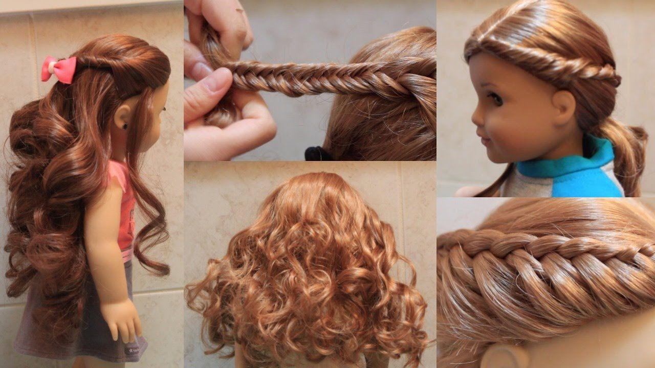 cute american girl doll hairstyles! | american girl doll