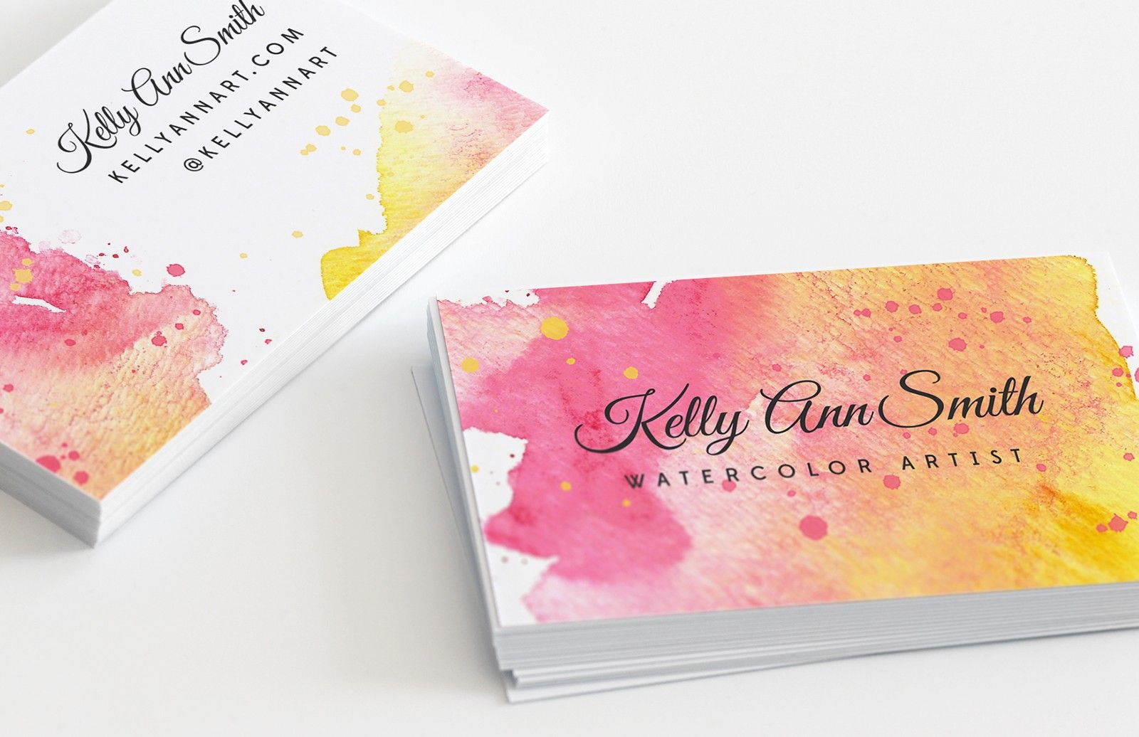 Medialoot Watercolor Artist Business Card Template Artist Business Cards Watercolor Business Cards Examples Of Business Cards