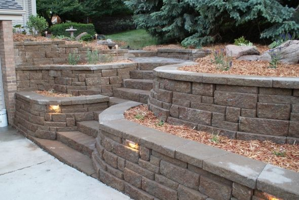 Retaining Walls Portfolio Of Images Omaha Landscape Design Landscaping Retaining Walls Landscape Design Outdoor Landscaping