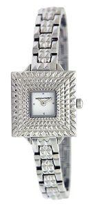 399b6130abd6 BCBGMAXAZRIA Women s BG8297 Vintage Square Retro Silver Analog Bracelet  Watch