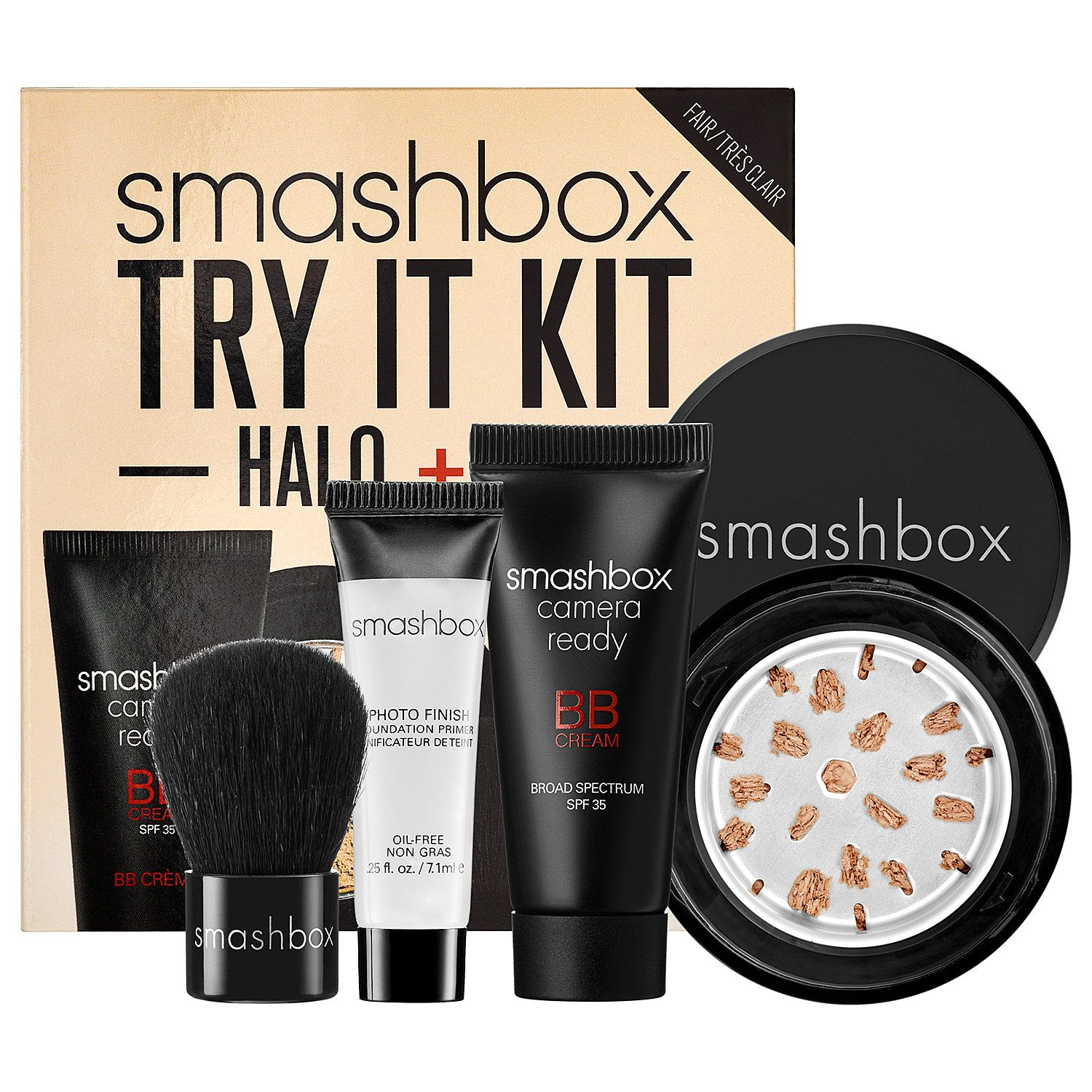 Smashbox Try It Kit Halo + BB features a travelsize