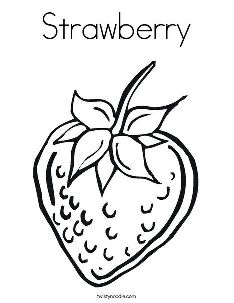 Strawberry Coloring Page | PDO - Winter | Pinterest