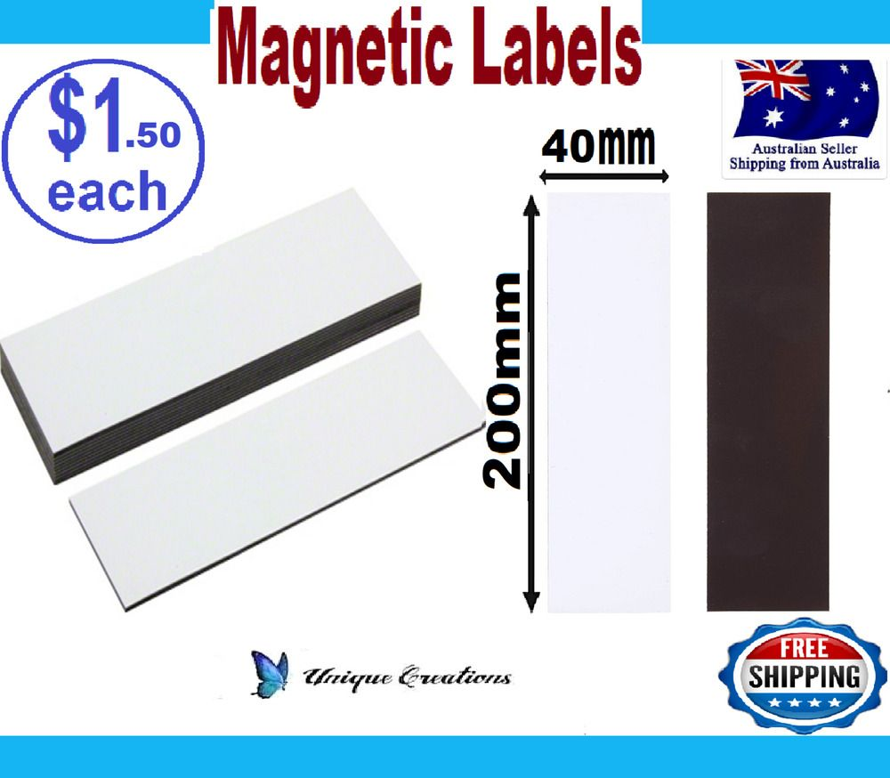 200X40mm White Labels Strips Warehouse Factory