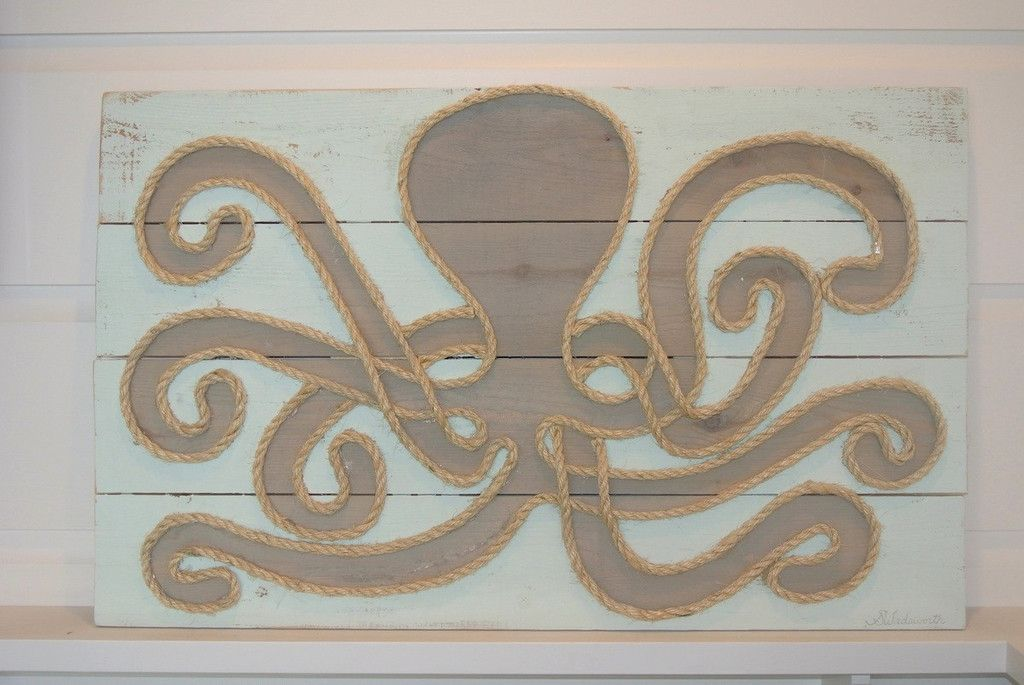 "Sunbleached Octopus 35"" x 22"" 