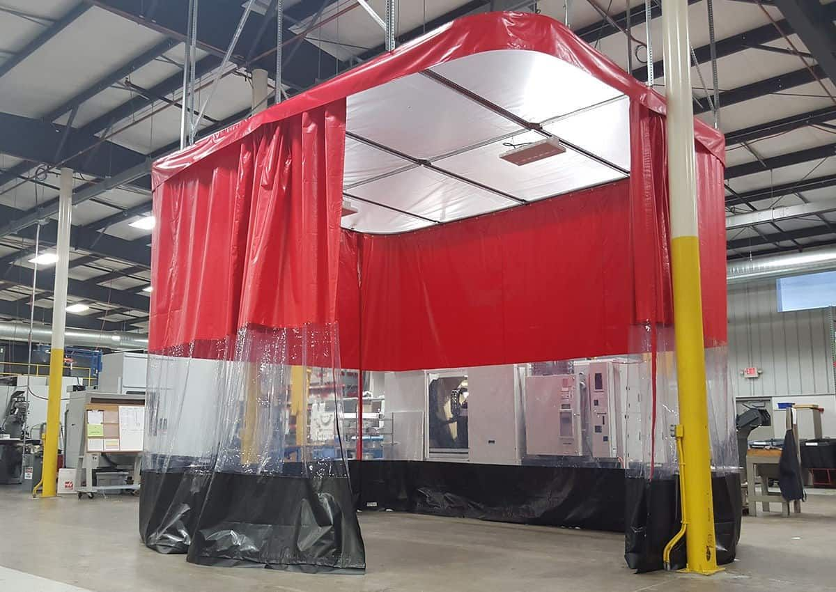 spray paint booth curtains