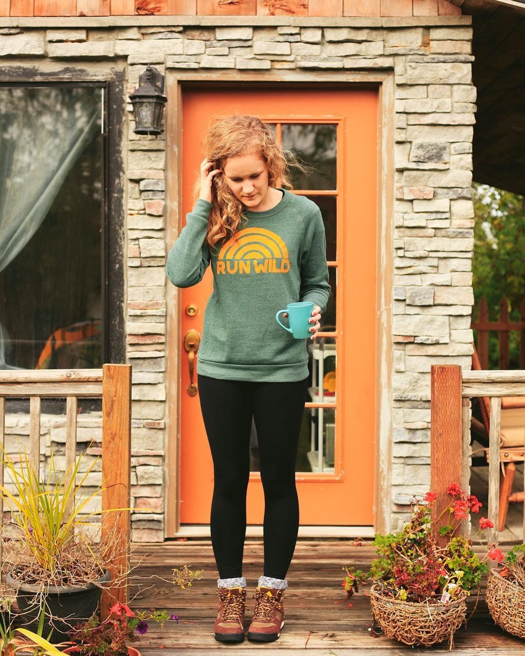 83bf50905 cabin mornings in our 'run wild' sweatshirt @charityvictoria @alaskangeles  @indybrandclothing