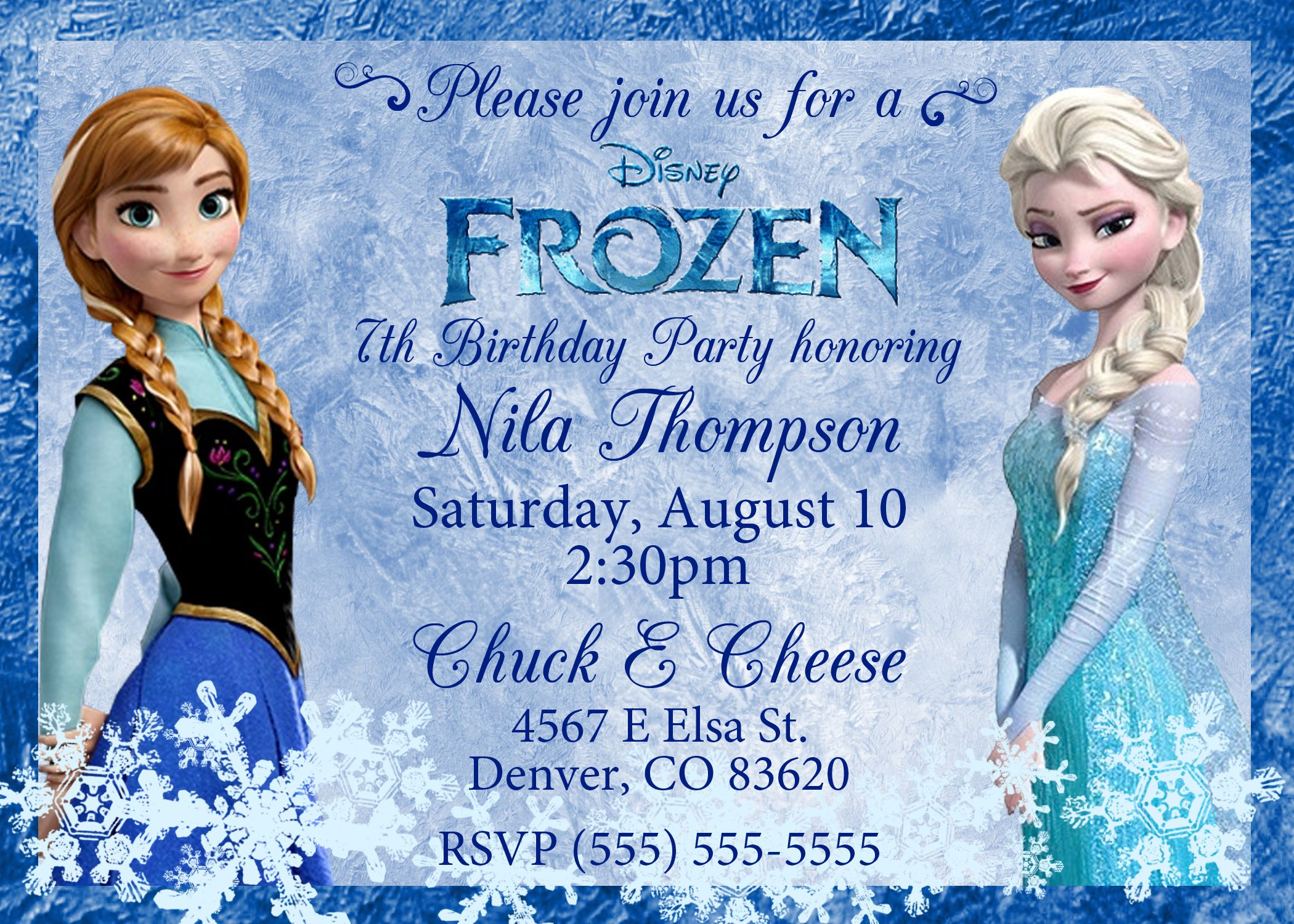 frozen birthday invitations frozen