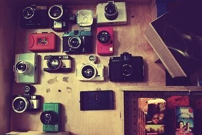 Old fashion cameras