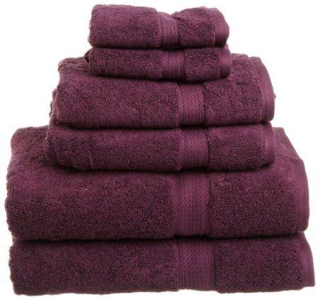 Amazon Com Superior 900 Gram Egyptian Cotton 6 Piece Towel Set