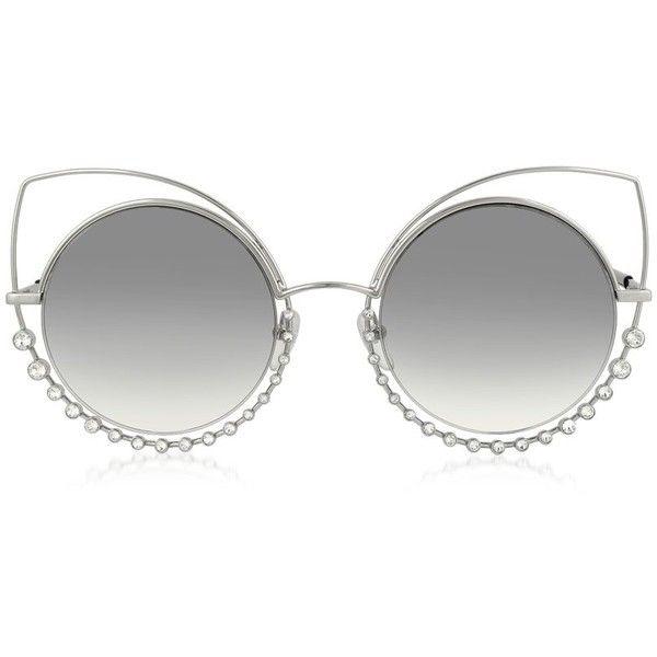 Marc Jacobs MARC 16   S EEIIC Metal de prata e cristais Óculos de sol das  mulheres olho de gato 7621aa9338