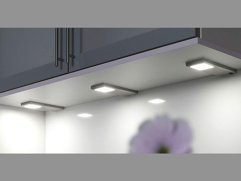 LED Unterbauleuchte Pinto Edelstahl Optik | Led unterbauleuchte ...