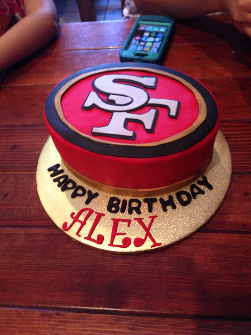 Tremendous 49Ers Birthday Cake With Images Cake Birthday Cake Funny Birthday Cards Online Overcheapnameinfo