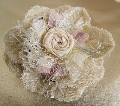 shabby fabric flower via catherine s love hair bows rh pinterest com