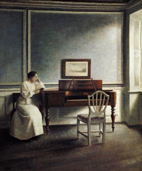 Resultado de imagen para Vilhelm Hammershøi