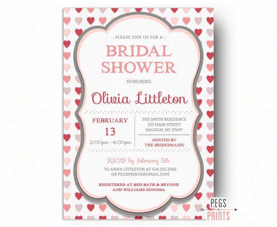Valentines Day Bridal Shower Invitation - Valentine Bridal Shower ...