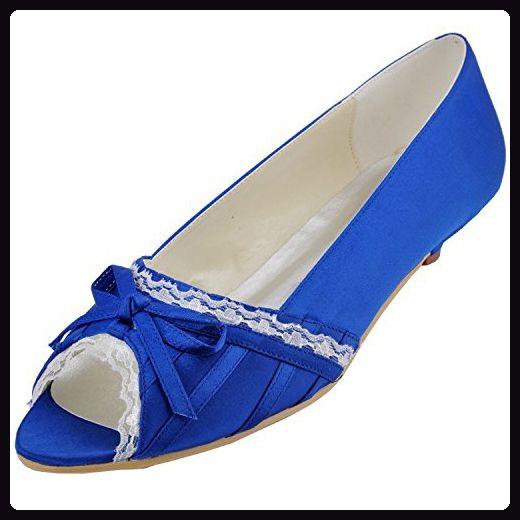 Kevin Fashion , Damen Modische Hochzeitsschuhe , Blau - blau - Größe: 37