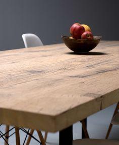 Ostende Table Sur Mesure Plateau En Plancher De Fonds De Wagon En